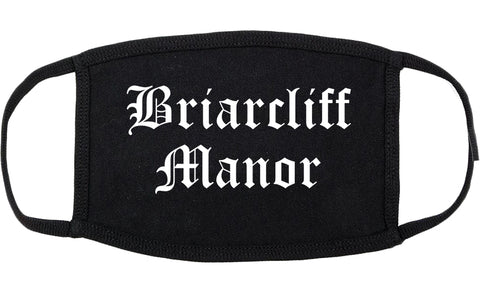 Briarcliff Manor New York NY Old English Cotton Face Mask Black