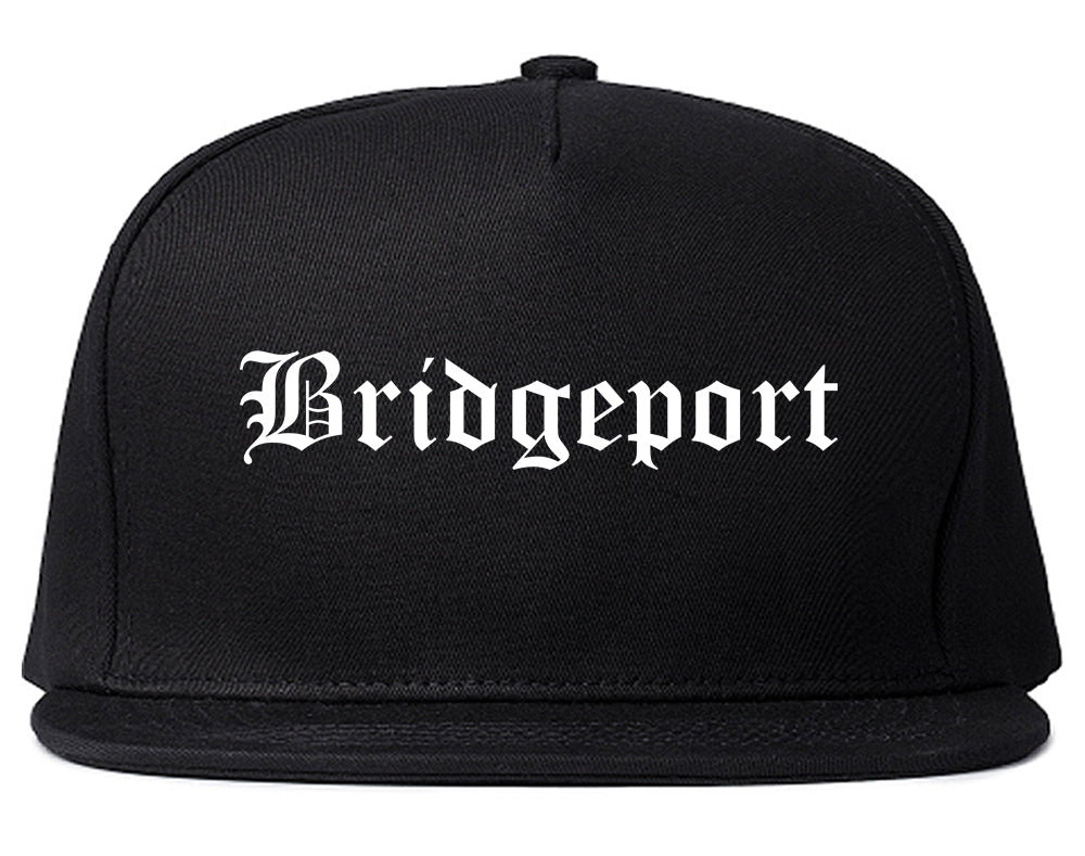Bridgeport Connecticut CT Old English Mens Snapback Hat Black