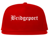 Bridgeport Connecticut CT Old English Mens Snapback Hat Red