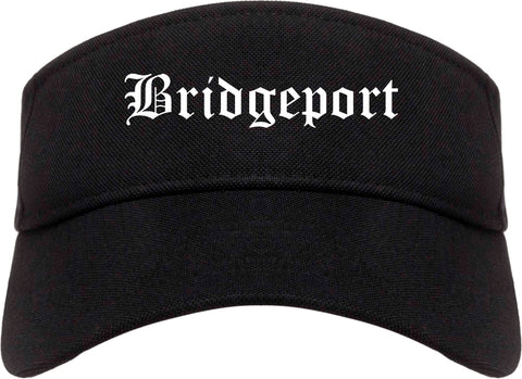 Bridgeport Connecticut CT Old English Mens Visor Cap Hat Black