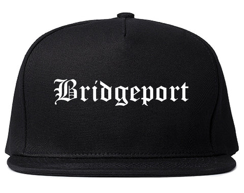 Bridgeport Texas TX Old English Mens Snapback Hat Black