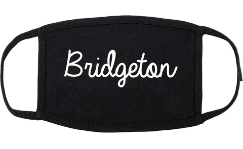 Bridgeton Missouri MO Script Cotton Face Mask Black