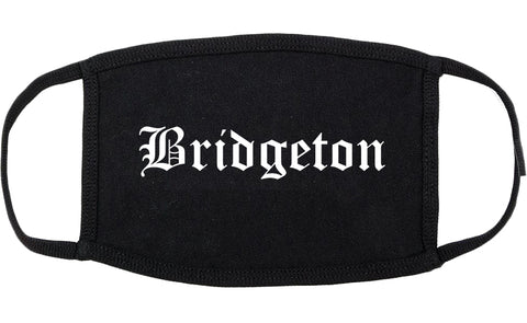 Bridgeton New Jersey NJ Old English Cotton Face Mask Black