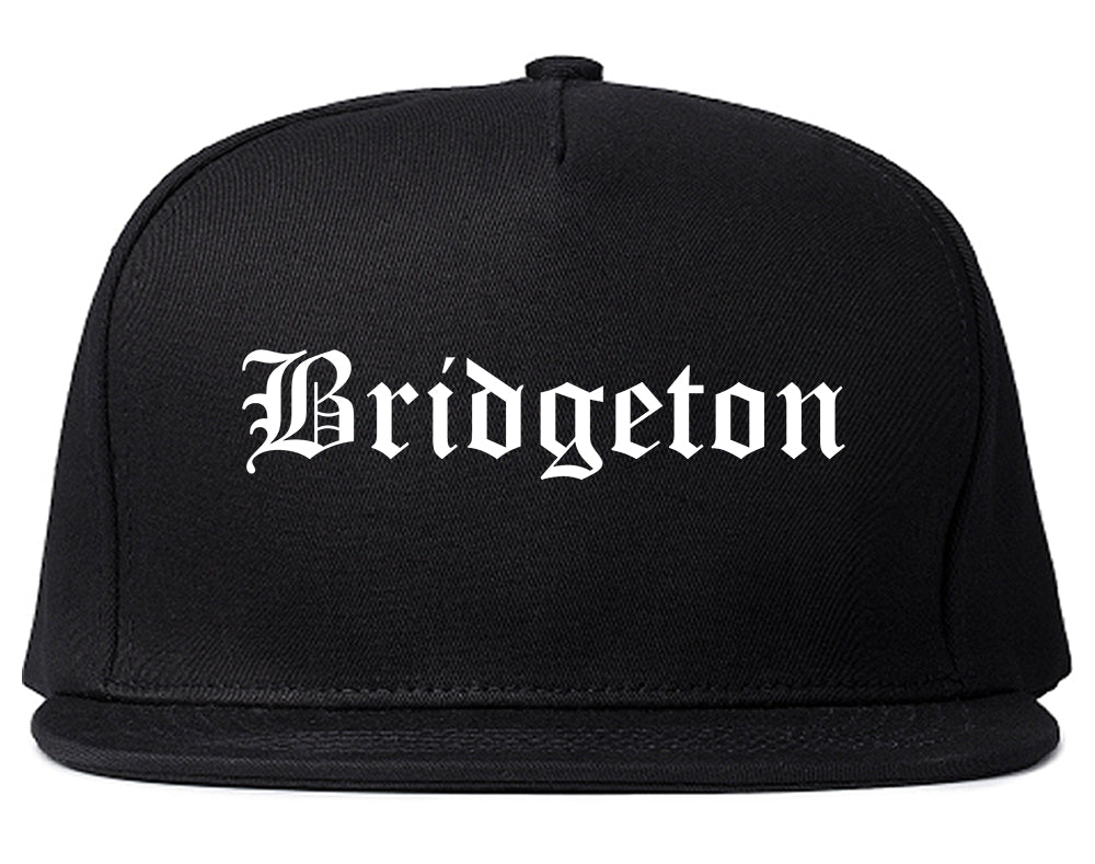 Bridgeton New Jersey NJ Old English Mens Snapback Hat Black