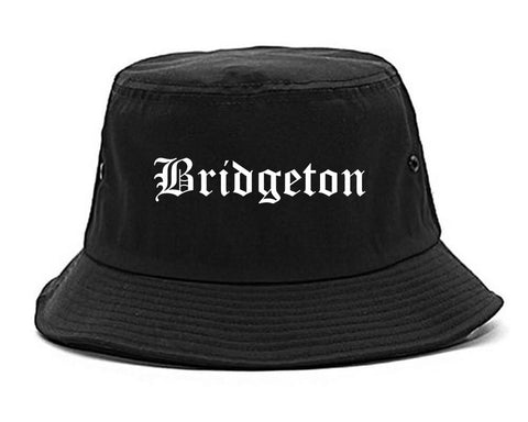 Bridgeton New Jersey NJ Old English Mens Bucket Hat Black