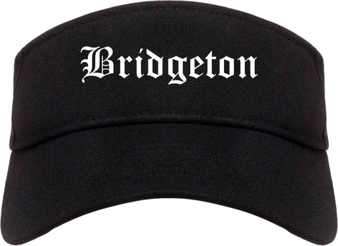 Bridgeton New Jersey NJ Old English Mens Visor Cap Hat Black