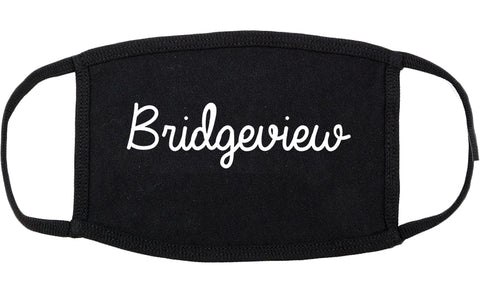 Bridgeview Illinois IL Script Cotton Face Mask Black