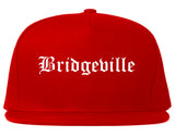 Bridgeville Pennsylvania PA Old English Mens Snapback Hat Red