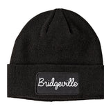 Bridgeville Pennsylvania PA Script Mens Knit Beanie Hat Cap Black