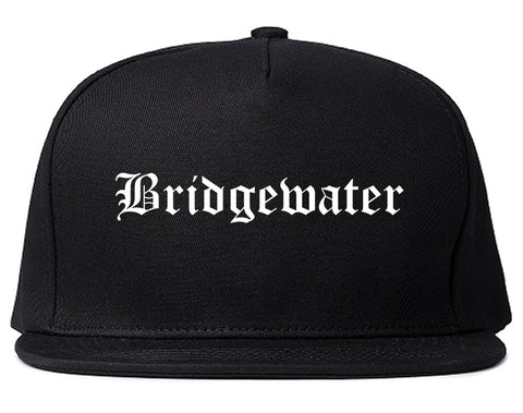 Bridgewater Virginia VA Old English Mens Snapback Hat Black