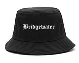 Bridgewater Virginia VA Old English Mens Bucket Hat Black