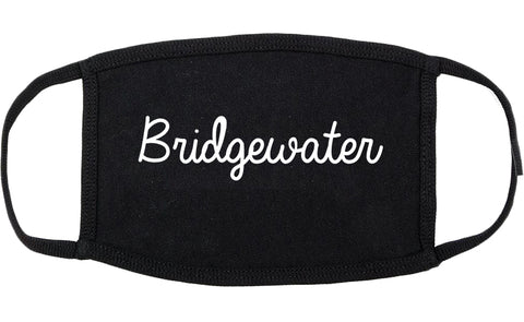 Bridgewater Virginia VA Script Cotton Face Mask Black