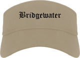 Bridgewater Virginia VA Old English Mens Visor Cap Hat Khaki