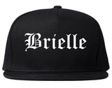 Brielle New Jersey NJ Old English Mens Snapback Hat Black