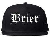 Brier Washington WA Old English Mens Snapback Hat Black