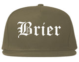 Brier Washington WA Old English Mens Snapback Hat Grey