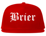 Brier Washington WA Old English Mens Snapback Hat Red