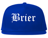 Brier Washington WA Old English Mens Snapback Hat Royal Blue