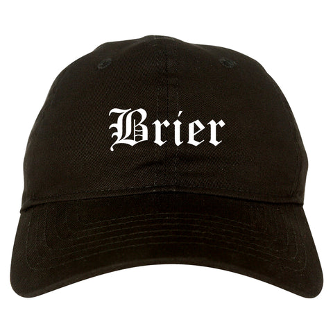 Brier Washington WA Old English Mens Dad Hat Baseball Cap Black
