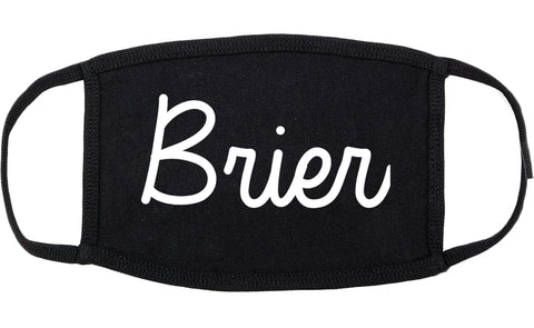 Brier Washington WA Script Cotton Face Mask Black