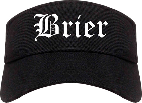 Brier Washington WA Old English Mens Visor Cap Hat Black