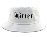 Brier Washington WA Old English Mens Bucket Hat White