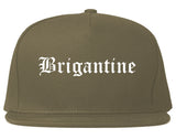 Brigantine New Jersey NJ Old English Mens Snapback Hat Grey