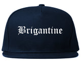 Brigantine New Jersey NJ Old English Mens Snapback Hat Navy Blue