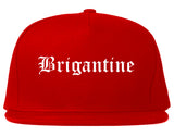 Brigantine New Jersey NJ Old English Mens Snapback Hat Red