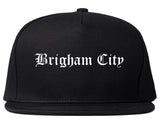 Brigham City Utah UT Old English Mens Snapback Hat Black