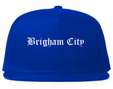 Brigham City Utah UT Old English Mens Snapback Hat Royal Blue