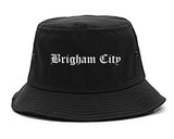 Brigham City Utah UT Old English Mens Bucket Hat Black