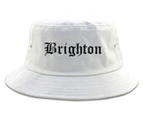 Brighton Michigan MI Old English Mens Bucket Hat White