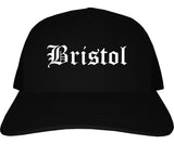 Bristol Pennsylvania PA Old English Mens Trucker Hat Cap Black