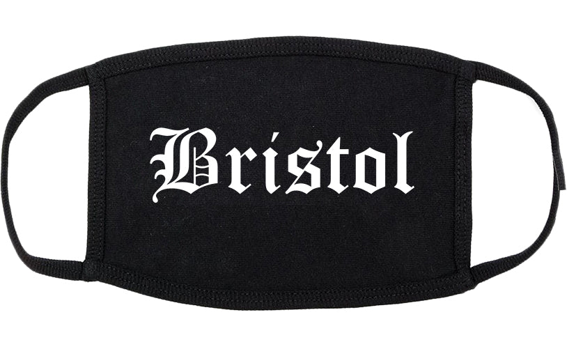 Bristol Tennessee TN Old English Cotton Face Mask Black