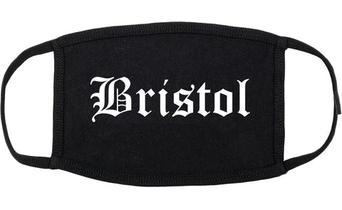 Bristol Virginia VA Old English Cotton Face Mask Black