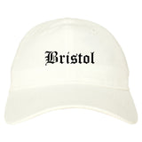 Bristol Virginia VA Old English Mens Dad Hat Baseball Cap White