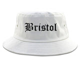 Bristol Virginia VA Old English Mens Bucket Hat White