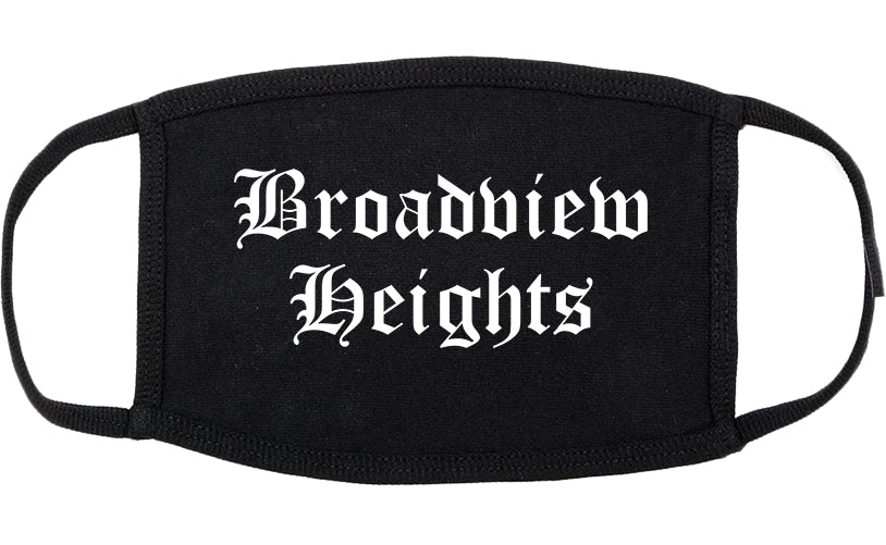 Broadview Heights Ohio OH Old English Cotton Face Mask Black