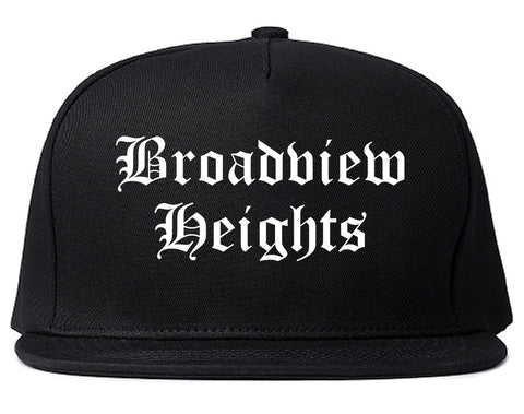 Broadview Heights Ohio OH Old English Mens Snapback Hat Black