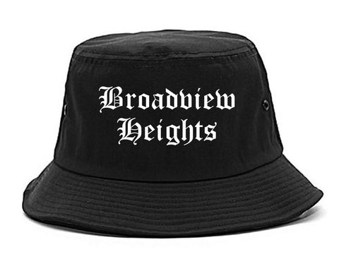 Broadview Heights Ohio OH Old English Mens Bucket Hat Black