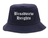 Broadview Heights Ohio OH Old English Mens Bucket Hat Navy Blue