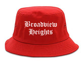 Broadview Heights Ohio OH Old English Mens Bucket Hat Red