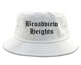 Broadview Heights Ohio OH Old English Mens Bucket Hat White