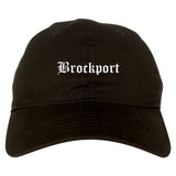 Brockport New York NY Old English Mens Dad Hat Baseball Cap Black