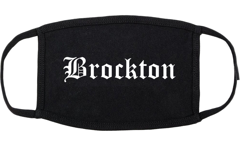 Brockton Massachusetts MA Old English Cotton Face Mask Black