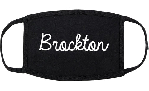 Brockton Massachusetts MA Script Cotton Face Mask Black