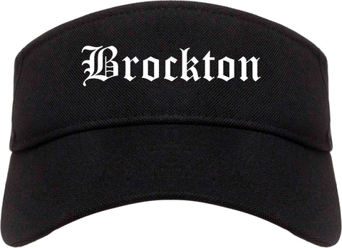 Brockton Massachusetts MA Old English Mens Visor Cap Hat Black