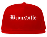 Bronxville New York NY Old English Mens Snapback Hat Red