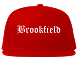 Brookfield Illinois IL Old English Mens Snapback Hat Red